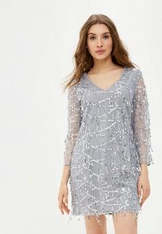 Платье, Delia, цвет: серый. Артикул: MP002XW03TH8. Одежда / Платья и сарафаны / Вечерние платья