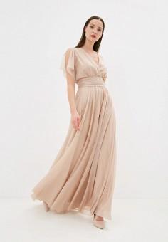 Платье, Seam, цвет: бежевый. Артикул: MP002XW04719. Одежда / Платья и сарафаны / Вечерние платья