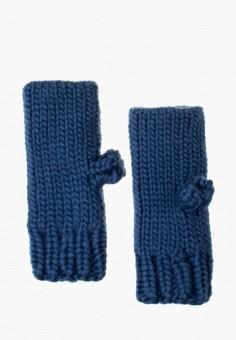 Митенки, Anna Bask, цвет: синий. Артикул: MP002XW0DQFF. Аксессуары / Перчатки и варежки