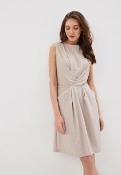 Платье, Laura Amuletti, цвет: бежевый. Артикул: MP002XW0HCOQ. Одежда / Платья и сарафаны / Вечерние платья