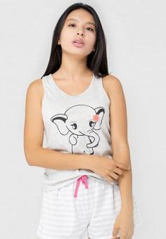 Пижама, Kayser, цвет: белый, серый. Артикул: MP002XW0HI68. Одежда / Домашняя одежда