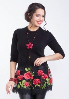 Джемпер, Wisell, цвет: черный. Артикул: MP002XW0IYBN. Одежда / Джемперы, свитеры и кардиганы / Джемперы и пуловеры / Джемперы