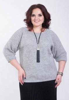 Джемпер, Wisell, цвет: серый. Артикул: MP002XW0IYC5. Одежда / Джемперы, свитеры и кардиганы / Джемперы и пуловеры / Джемперы