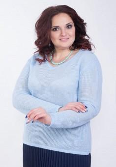 Пуловер, Wisell, цвет: голубой. Артикул: MP002XW0IYDG. Одежда / Джемперы, свитеры и кардиганы / Джемперы и пуловеры / Джемперы