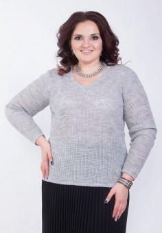 Пуловер, Wisell, цвет: серый. Артикул: MP002XW0IYDI. Одежда / Джемперы, свитеры и кардиганы / Джемперы и пуловеры / Джемперы