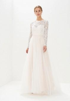 Платье, Lakshmi fashion, цвет: бежевый. Артикул: MP002XW0WK8M. Одежда / Платья и сарафаны / Вечерние платья