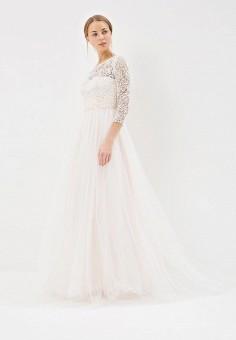 Платье, Lakshmi fashion, цвет: бежевый. Артикул: MP002XW0WK8P. Одежда / Платья и сарафаны / Вечерние платья