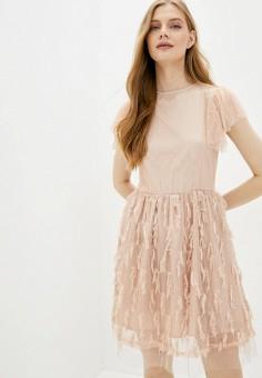 Платье, Martina Marini, цвет: бежевый. Артикул: MP002XW10MWL. Одежда / Платья и сарафаны / Вечерние платья