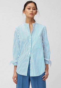 Блуза, Marc O'Polo, цвет: белый. Артикул: MP002XW11KQW. Одежда / Блузы и рубашки / Блузы