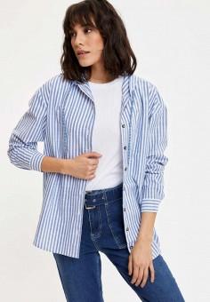 Куртка, DeFacto, цвет: голубой. Артикул: MP002XW11NKX. Одежда / Верхняя одежда