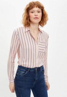 Рубашка, DeFacto, цвет: розовый. Артикул: MP002XW11NLG. Одежда / Блузы и рубашки / Рубашки