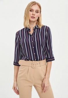 Рубашка, DeFacto, цвет: синий. Артикул: MP002XW11NLM. Одежда / Блузы и рубашки / Рубашки