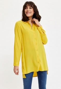 Туника, DeFacto, цвет: желтый. Артикул: MP002XW11NLW. Одежда / Туники