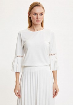 Блуза, DeFacto, цвет: белый. Артикул: MP002XW11NPD. Одежда / Блузы и рубашки