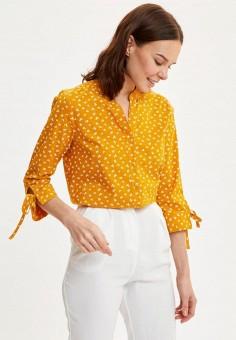 Блуза, DeFacto, цвет: желтый. Артикул: MP002XW11NPH. Одежда / Блузы и рубашки / Блузы