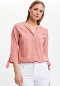 Рубашка, DeFacto, цвет: розовый. Артикул: MP002XW11NPI. Одежда / Блузы и рубашки / Рубашки