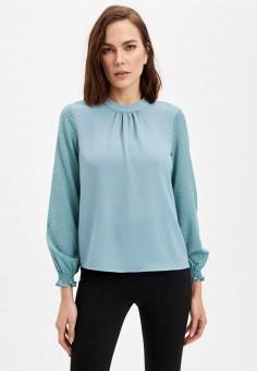 Блуза, DeFacto, цвет: бирюзовый. Артикул: MP002XW11NQ2.