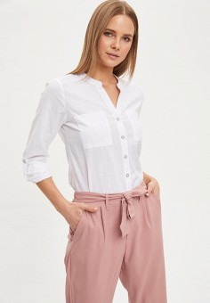 Блуза, DeFacto, цвет: белый. Артикул: MP002XW11NQ4. Одежда / Блузы и рубашки / Блузы