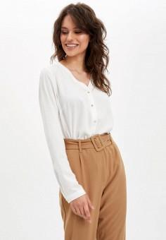 Блуза, DeFacto, цвет: бежевый. Артикул: MP002XW11NQY. Одежда / Блузы и рубашки