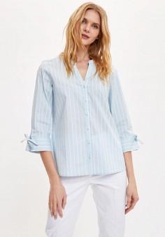 Рубашка, DeFacto, цвет: голубой. Артикул: MP002XW11NRH. Одежда / Блузы и рубашки / Рубашки
