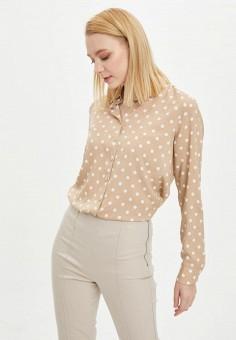 Рубашка, DeFacto, цвет: бежевый. Артикул: MP002XW11NRL. Одежда / Блузы и рубашки / Рубашки