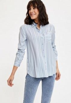 Рубашка, DeFacto, цвет: голубой. Артикул: MP002XW11NRM. Одежда / Блузы и рубашки / Рубашки