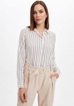 Рубашка, DeFacto, цвет: белый. Артикул: MP002XW11NRN. Одежда / Блузы и рубашки / Рубашки