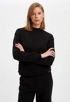 Свитшот, DeFacto, цвет: черный. Артикул: MP002XW11NT3. Одежда / Толстовки и свитшоты