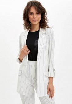 Пиджак, DeFacto, цвет: белый. Артикул: MP002XW11NTN. Одежда / Пиджаки и костюмы
