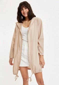 Куртка, DeFacto, цвет: бежевый. Артикул: MP002XW11NTP. Одежда / Верхняя одежда