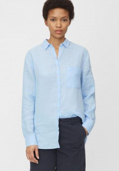 Блуза, Marc O'Polo, цвет: голубой. Артикул: MP002XW15AA8. Одежда / Блузы и рубашки