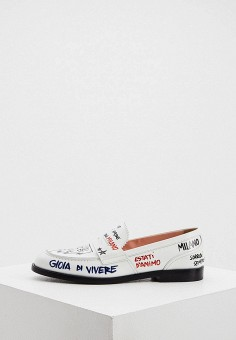 Лоферы, MSGM, цвет: белый. Артикул: MS718AWIPRP0. Обувь / Туфли / Лоферы