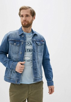Куртка джинсовая, Mustang, цвет: синий. Артикул: MU454EMIARP4. Одежда / Верхняя одежда / Джинсовые куртки