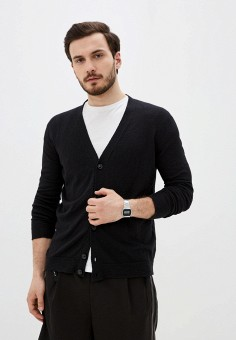 Кардиган, Twinset Milano, цвет: черный. Артикул: MY014EMJEMR8. Одежда / Джемперы, свитеры и кардиганы / Кардиганы