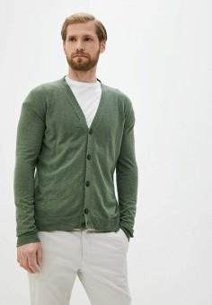 Кардиган, Twinset Milano, цвет: зеленый. Артикул: MY014EMJEMR9. Одежда / Джемперы, свитеры и кардиганы / Кардиганы