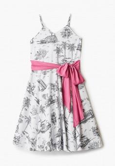 Платье, N21, цвет: белый. Артикул: N1380EGIWTI0. Девочкам / Одежда / Платья и сарафаны
