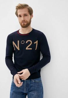 Джемпер, N21, цвет: синий. Артикул: N1380EMHTFF6. Одежда / Джемперы, свитеры и кардиганы / Джемперы и пуловеры