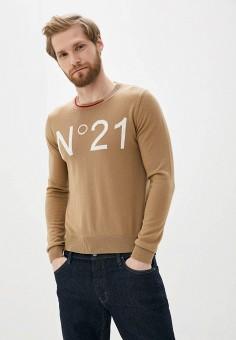 Джемпер, N21, цвет: бежевый. Артикул: N1380EMHTFF7. Одежда / Джемперы, свитеры и кардиганы / Джемперы и пуловеры