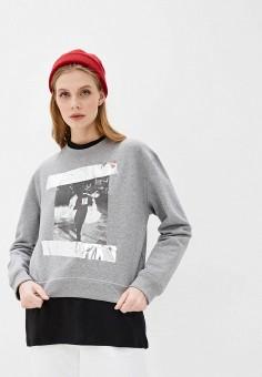 Свитшот, N21, цвет: серый. Артикул: N1380EWHXLH5. Одежда / Толстовки и свитшоты