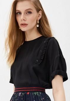 Блуза, N21, цвет: черный. Артикул: N1380EWHXLI9. Одежда / Блузы и рубашки