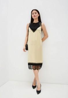 Платье, N21, цвет: бежевый. Артикул: N1380EWHXLJ1. Одежда / Платья и сарафаны / Вечерние платья
