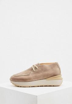 Ботинки, Nando Muzi, цвет: бежевый. Артикул: NA008AWJUYZ3. Обувь / Ботинки / Низкие ботинки