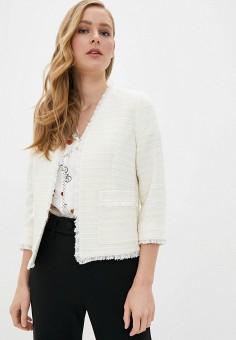 Жакет, Naf Naf, цвет: белый. Артикул: NA018EWIKXM1. Одежда / Пиджаки и костюмы