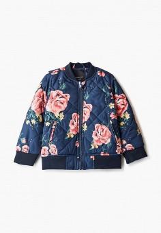 Куртка утепленная, Name It, цвет: синий. Артикул: NA020EGHIYC0. Девочкам / Одежда / Верхняя одежда / Куртки и пуховики