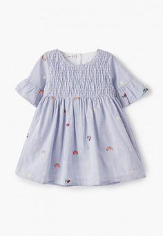 Платье, Name It, цвет: голубой. Артикул: NA020EGIPDR9. Девочкам / Одежда / Платья и сарафаны
