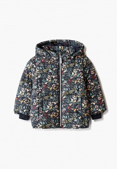 Куртка утепленная, Name It, цвет: мультиколор. Артикул: NA020EGJPRF7. Девочкам / Одежда / Верхняя одежда / Куртки и пуховики