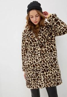 Шуба, NA-KD, цвет: коричневый. Артикул: NA033EWGQQX7. Одежда / Верхняя одежда / Шубы и дубленки