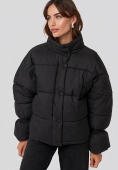 Куртка утепленная, NA-KD, цвет: черный. Артикул: NA033EWGQRJ2. Одежда / Верхняя одежда / Демисезонные куртки