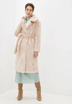 Шуба, NA-KD, цвет: бежевый. Артикул: NA033EWGQRJ4. Одежда / Верхняя одежда / Шубы и дубленки