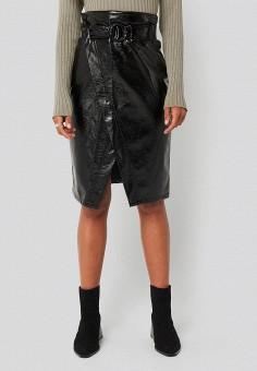 Юбка, NA-KD, цвет: черный. Артикул: NA033EWGQRJ8. Одежда / Юбки